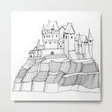 Castle on the cliff Metal Print