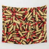 lipstick Wall Tapestries featuring Lipstick by GrandeDuc