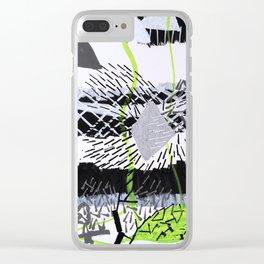 Série Gris 3 de 4 Paint Marker Acrylique/Acrylic Clear iPhone Case