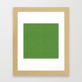 Green Sweater pattern Framed Art Print