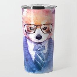 Cute fashion hipster animals pets red panda Travel Mug