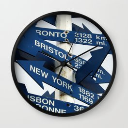 Directions Wall Clock