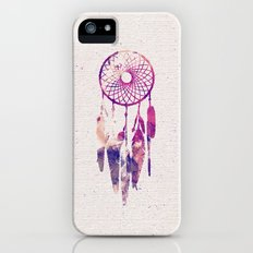Girly Pink Purple Dream Catcher Watercolor Paint Slim Case iPhone (5, 5s)