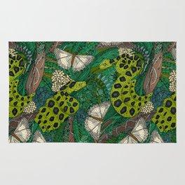 entangled forest green Rug