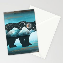 Winter Bear - North American Indian Art Stationery Cards