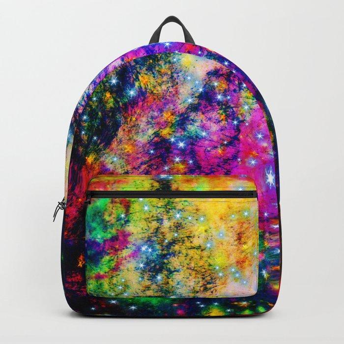 rainbow galaxy with stars Backpack