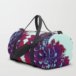 Purple Painted Flowers Duffle Bag
