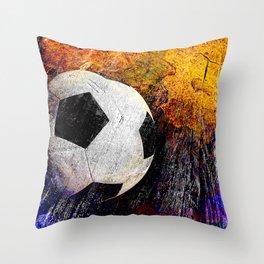 Soccer ball vs 7 Throw Pillow