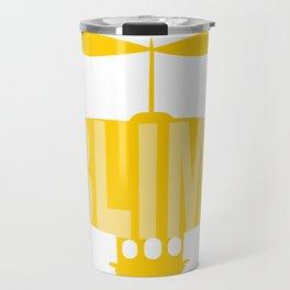 Yellow Silly Blimp Travel Mug