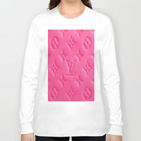 lv Long Sleeve T-shirts featuring Pink LV by I Love Decor