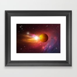Star dust and interstellar gas. Framed Art Print