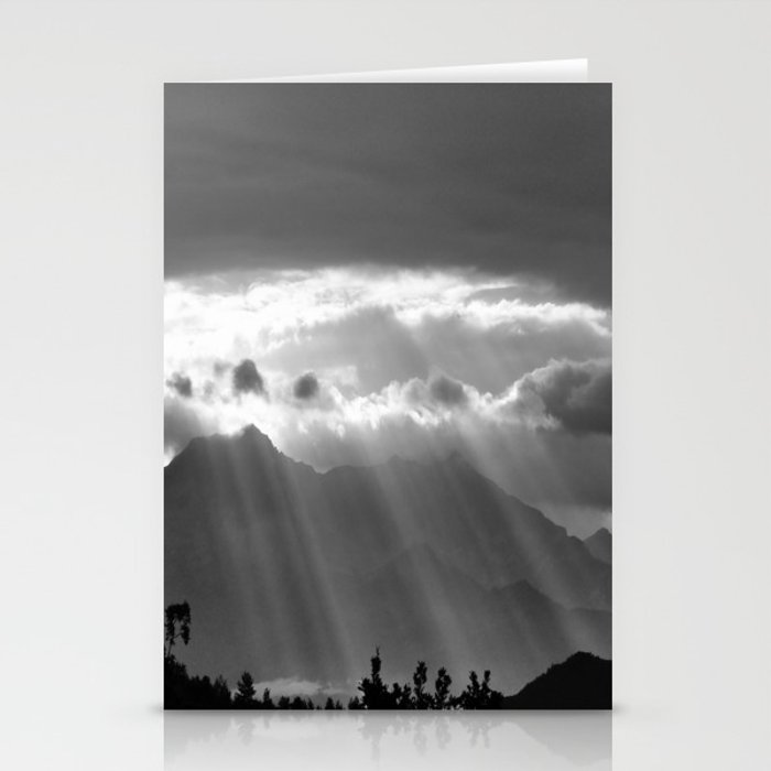 Rays From The Sky Stationery Cards