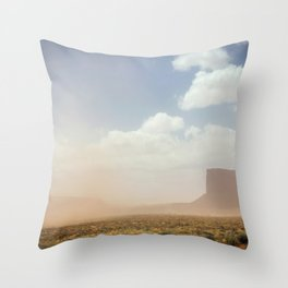 Desert Sand Storm Throw Pillow