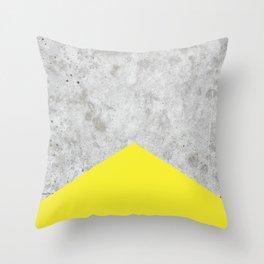 Concrete Arrow Yellow #193 Throw Pillow