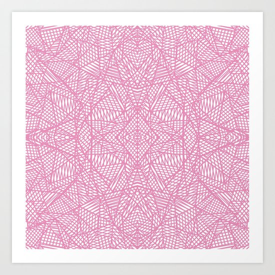 Ab Lace Pink Art Print