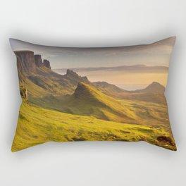 III - Sunrise at Quiraing, Isle of Skye, Scotland Rectangular Pillow