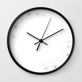 White sakura flowers Wall Clock