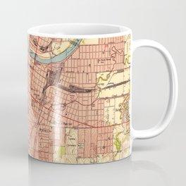 Vintage Map of Topeka Kansas (1951) Coffee Mug