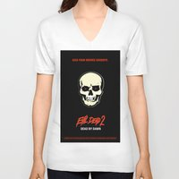 evil dead V-neck T-shirts featuring Evil Dead 2 - Dead by Dawn by Dukesman