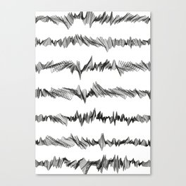 Pattern Collection. Black and White. Pulse. Canvas Print