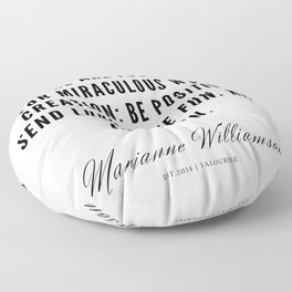 39 |  Marianne Williamson Quotes | 190812 Floor Pillow