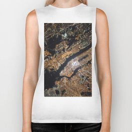 New York From Above Biker Tank