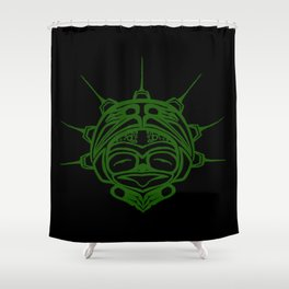 Grass Frog Ink Shower Curtain