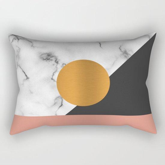 Marble & metals Rectangular Pillow