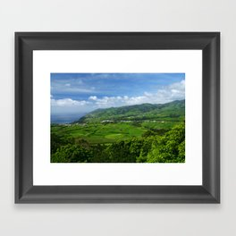 Azores islands landscape Framed Art Print