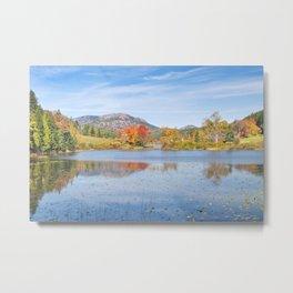 Fall on Long Pond Acadia National Park Maine Metal Print
