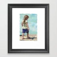 Starfish In The Sand Framed Art Print