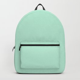 Mint Green Pastel Solid Color Block Backpack