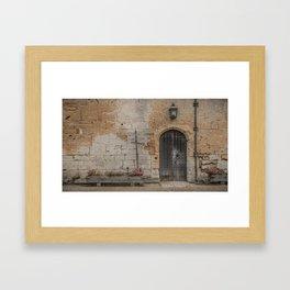 castle door... Framed Art Print