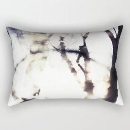 Blurry Trees Rectangular Pillow