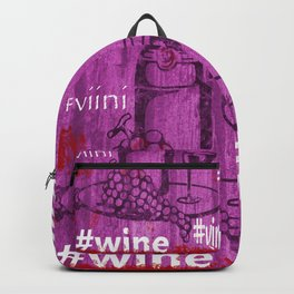 Hashtag Wine Backpack