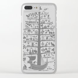 Christmas tree ship (gray) Clear iPhone Case