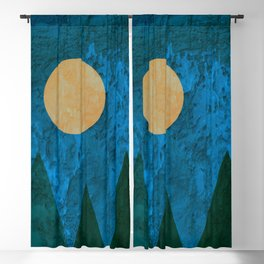 Ancestral, Abstract Landscape Mountains Blackout Curtain