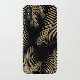 Palm Leaves - Gold Cali Vibes #4 #tropical #decor #art #society6 iPhone Case