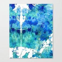 Blue And Aqua Abstract - Wishing Well - Sharon Cummings Canvas Print
