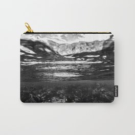 Monochrome Caribbean Layers Carry-All Pouch