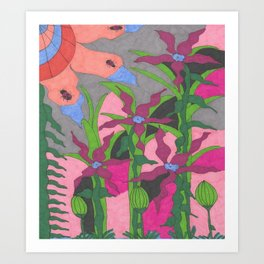 The Garden at Twilight Art Print