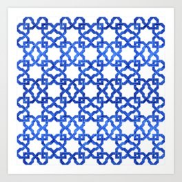 Geometric Pattern - Oriental Design rmx Art Print