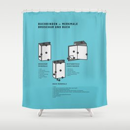 Buchbinden – Merkmale Broschur und Buch (in German) Shower Curtain