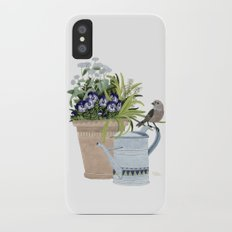 Pansies in a pot Slim Case iPhone X