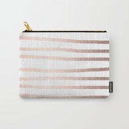 Simply Drawn Stripes Moon Dust Bronze Carry-All Pouch