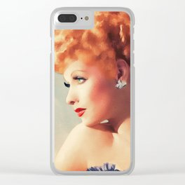Lucille Ball, Hollywood Legend Clear iPhone Case