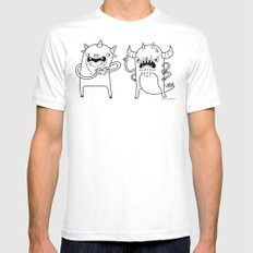 Monster Dialogues MEDIUM White Mens Fitted Tee