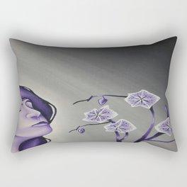 Wallflower Girl Rectangular Pillow
