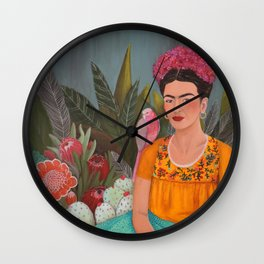 Frida a la casa azul Wall Clock