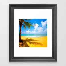 kill the beach Framed Art Print